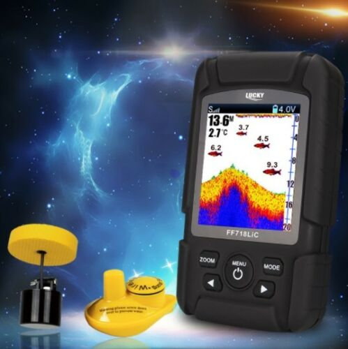 Lucky FF718LiC Real Waterproof Fish Finder Monitor 2-in-1 Wireless Sonar Wired H