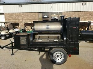 Competition-Pitmaster-BBQ-60-Smoker-Firewood-Mobile-Catering-Business-Grill-Ribs