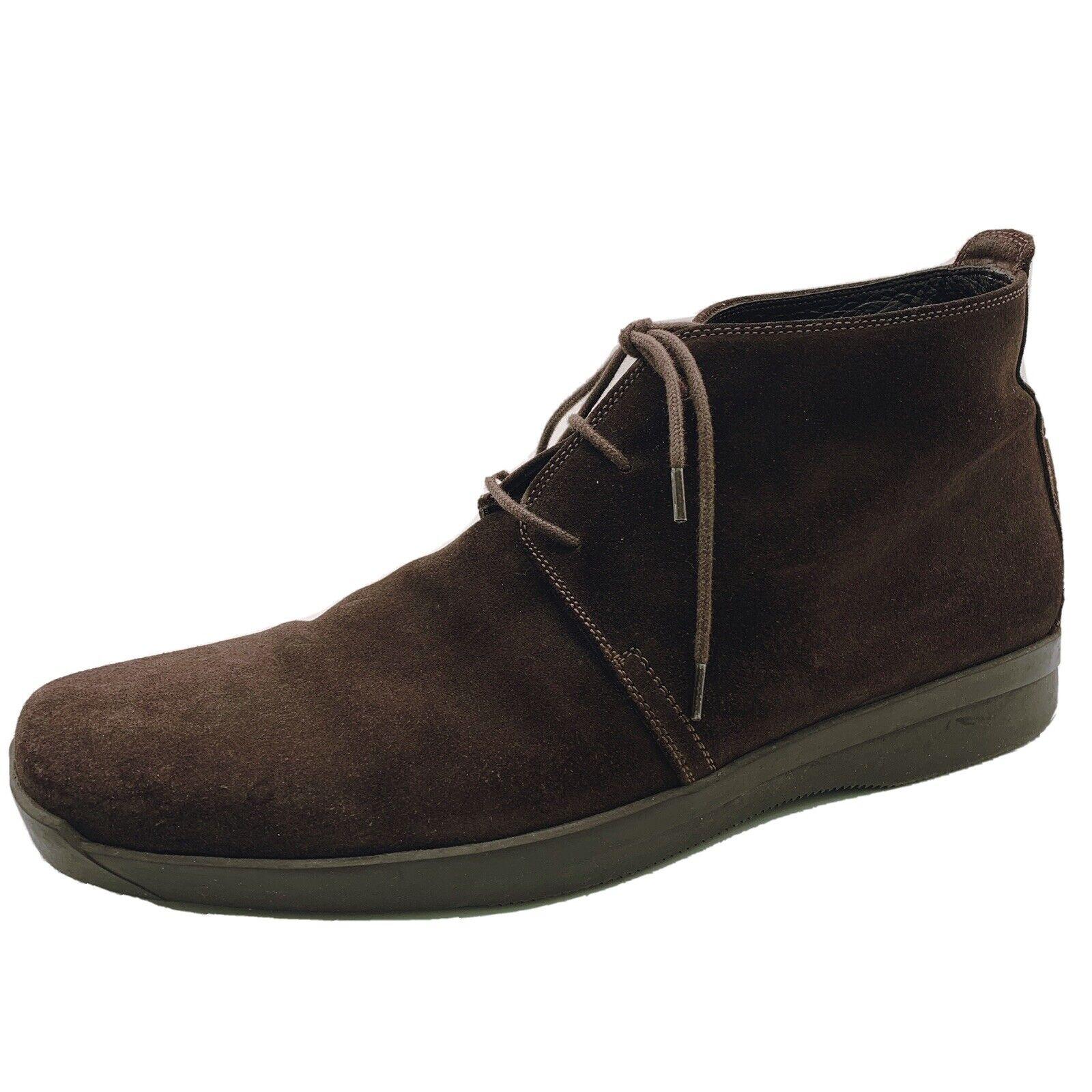 Ermenegildo Zegna Men's Brown Chukka Boots Suede 8 Made in Italy