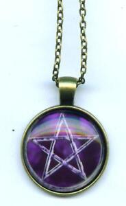 Halskette-Pentagramm-Necklace-Drudenfuss-Pentakel-fuenfstern-magie-Esoterik