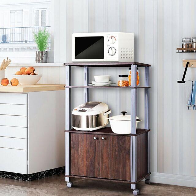 Kitchen Storage Cabinet Table Shelf Organizer Dining Furniture Microwave Cart For Online Ebay