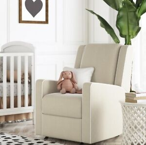 Details About Beige Nursery Rocker Recliner Baby Room Rocking Recliners Tan Chair Arm Chairs