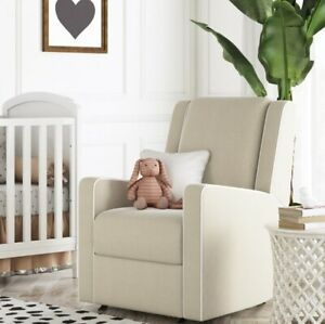 Beige Nursery Rocker Recliner Baby Room