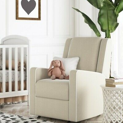 Peachy Beige Nursery Rocker Recliner Baby Room Rocking Recliners Tan Chair Arm Chairs Ebay Caraccident5 Cool Chair Designs And Ideas Caraccident5Info