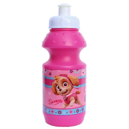 Paw Patrol Pink T Character Plastic Sports Bottle Kids Disney