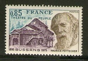 TIMBRE-1846-NEUF-XX-LUXE-MAURICE-POTTECHER-THEATRE-DU-PEUPLE-DE-BUSSANG