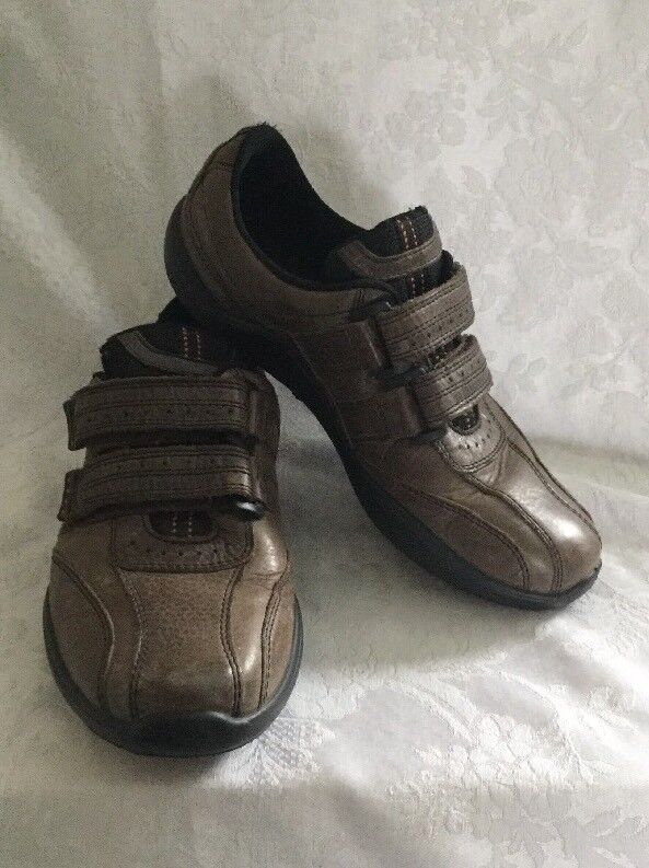 HOTTER Mens Energise Soft Brown Leather Comfort Shoes~Flats Sz8.5 Pre-owned