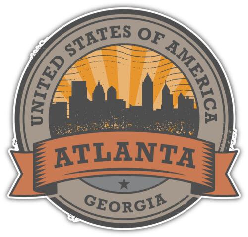 "Atlanta City Georgia USA State Retro Badge Car Bumper Sticker Decal /""SIZES/"""