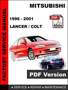 mitsubishi lancer colt 1996 2001 factory oem service repair rh ebay ie mitsubishi lancer 2001 service manual 2002 Lancer