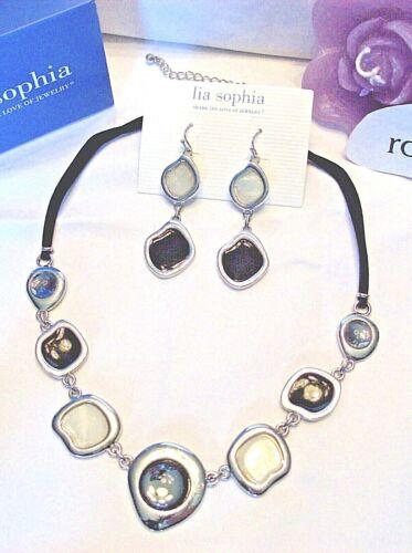 "Beautiful Lia Sophia /""MILKY WAY/"" Necklace /& Earrings Set 16-19/"" NWT"