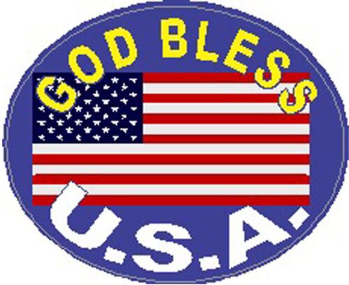 American Flag God Bless America Sticker SP-20