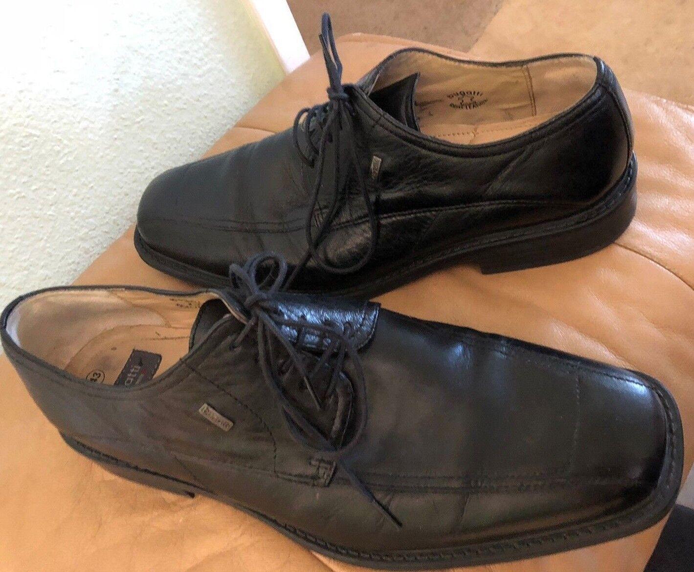 Bugatti Softline Schwarzes Leder Herren Formelle Schuhe Größe 43 37605-1 Us Sz