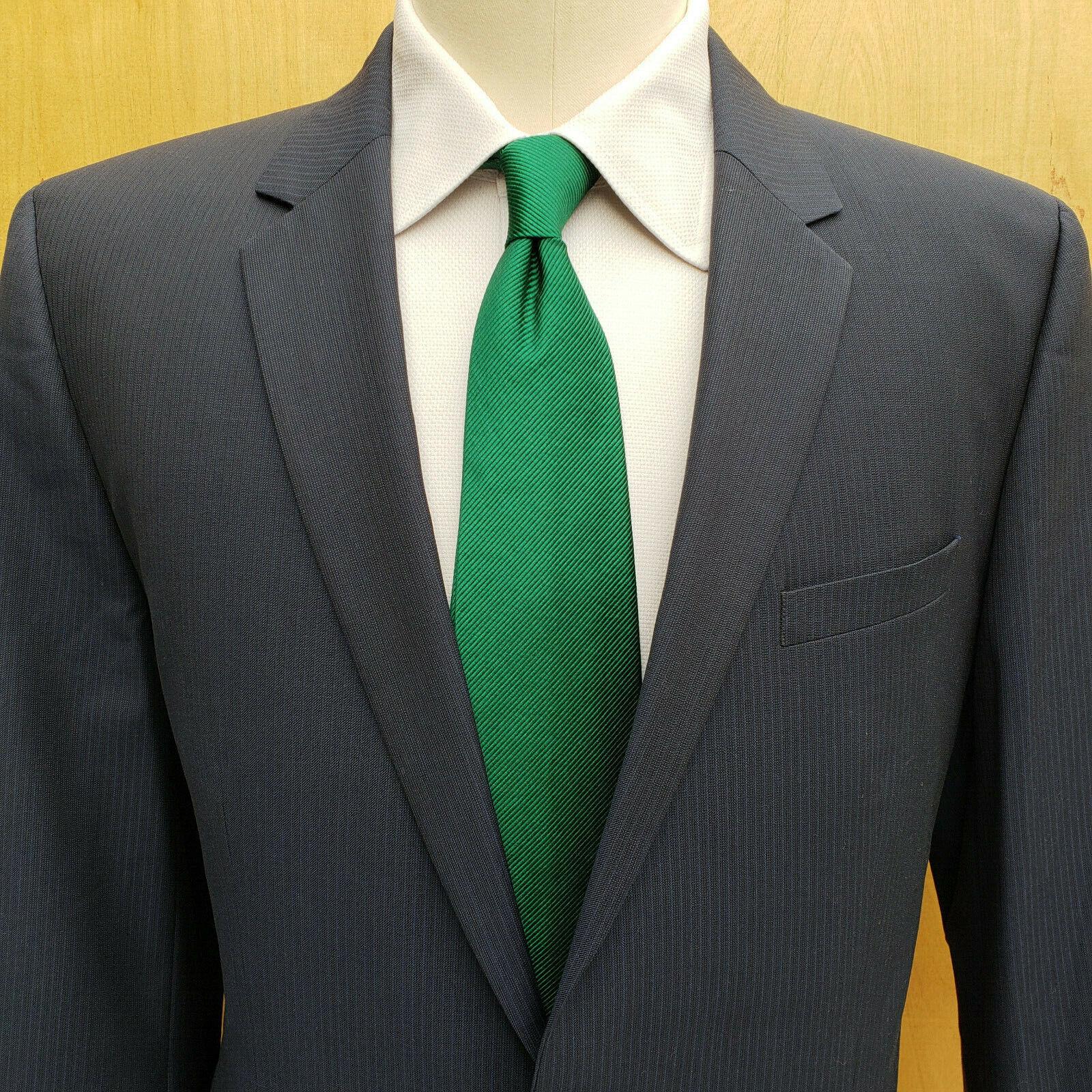Current Hugo Boss Aeron 1 Hamen1 bluee w Woven Stripe Wool 2pc Suit 40 42L EUC