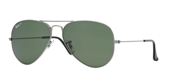 Ray Ban Aviator Classic Occhiali da Sole Uomo Gunmetal, 58mm (RB3025 00458 58 14)