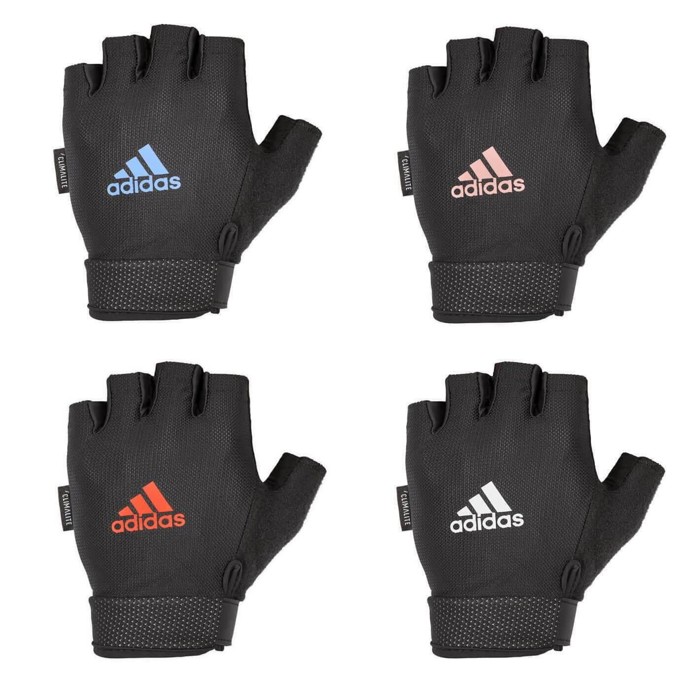 Details about Adidas Adjustable Essential Gloves Weight Lifting Fitness Training Gym Workout