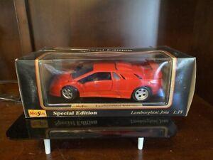 Nuevo-Edicion-Especial-De-Maisto-1995-Lamborghini-Jota-Rojo-1-18-escala-Diecast-9890