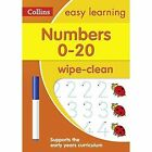 Collins Easy Learning Preschool - Numbers 0-20 Age 3-5 Wipe Clean Activity Book by Collins Easy Learning (Paperback, 2017)