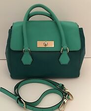 Kate Spade Catherine Street Joanie Leather Satchel Shoulder Bag Emerald Green