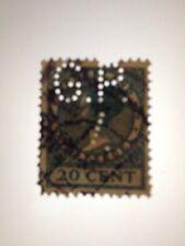 Stamp - Nederland / Holland - Perfin 20 cent