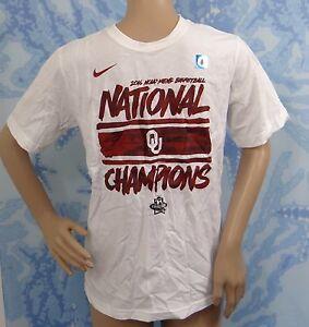 NIKE 2016 NCAA BASKETBALL NATIONAL OKLAHOMA U.CHAMPIONS white T-shirt,YOUTH L,XL