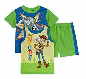 Toy Story Boy/'s 4-Piece Buzz Lightyear and Woody Costume Pajama Shorts Sets