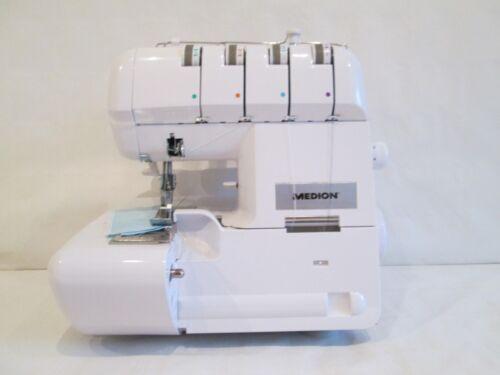 Overlock Nähmaschine MD14302 Weiss B 90 Watt Nähleistung von 1000 rpm