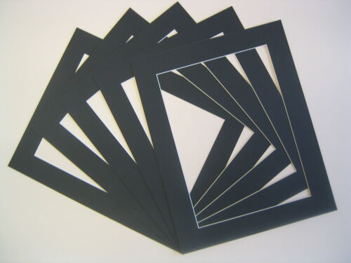 Photo cadre photo Mounts Pack de 4 8 ou 20 Différentes Tailles A3 A4 Noir