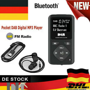Mini-Pocket-DAB-DAB-Digital-FM-Radio-Bluetooth-MP3Player-3-5mm-Headphone-Tragbar