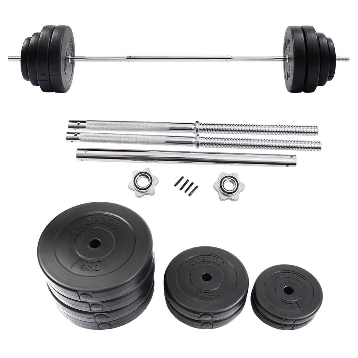 132lbs Pro  Gym Barbell Dumbbell Weight Set Gym Lifting Exercise Curl Bar Workout  wholesale price and reliable quality