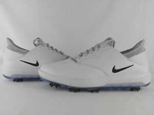d4442de7eca1 Nike Air Zoom Direct Golf Shoes White Black Metallic Silver Men s ...