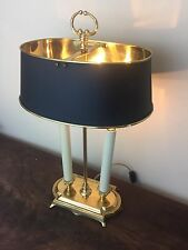Vintage Brass Bouillotte Tole Shade Desk Lamp Fredrick Cooper Style