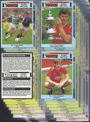 90 MINUTES-FULL SET- FOOTBALL ERS EXC GEORGE BEST KENNY DALGLISH X56 CARDS
