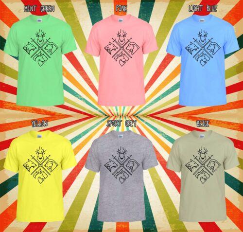 4 casas de juego de tronos mínima Chaleco Camiseta Unisex Hombres Mujeres T Shirt 1926