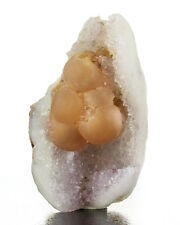 """4.6"""" Multiple Yellow BALL FLUORITE on Amethystine Quartz Crystals India for sale"""