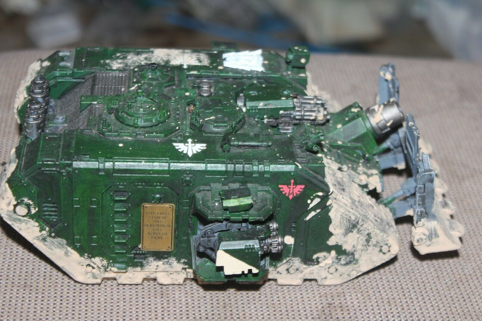 Forge World Dark Angel Landraider Landraider Landraider ARES Painted And OOP 313be9