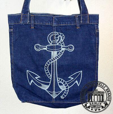 S15. ANKER ANCHOR Jeans Denim Shopping Bag Marionelli Tasche Stofftasche