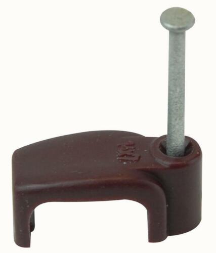 ZZV44167 Unifix Câble Clip plat marron 6.00 mm 100//Box