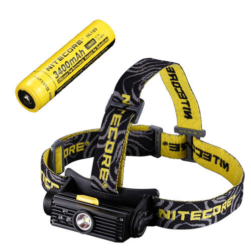 Nitecore HC90 Rechargeable XM-L2 Headlamp w NL189 Rechargeable 18650 Battery