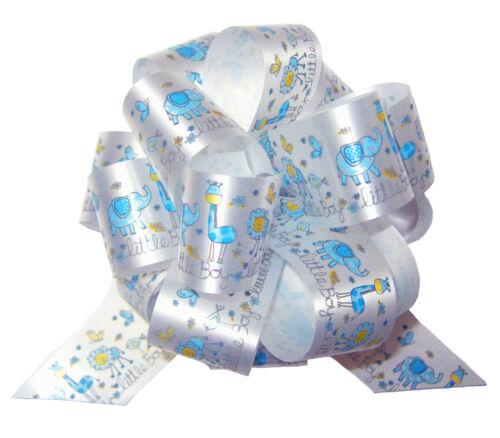 Bow /& Tag Tissue POP UP GIFT BOX KIT BLUE /& WHITE BABY BOY Cello Bag Box