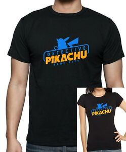 Ladies fitted and kids POKEMON Inspired Detective Pikachu Ryme City T-Shirt