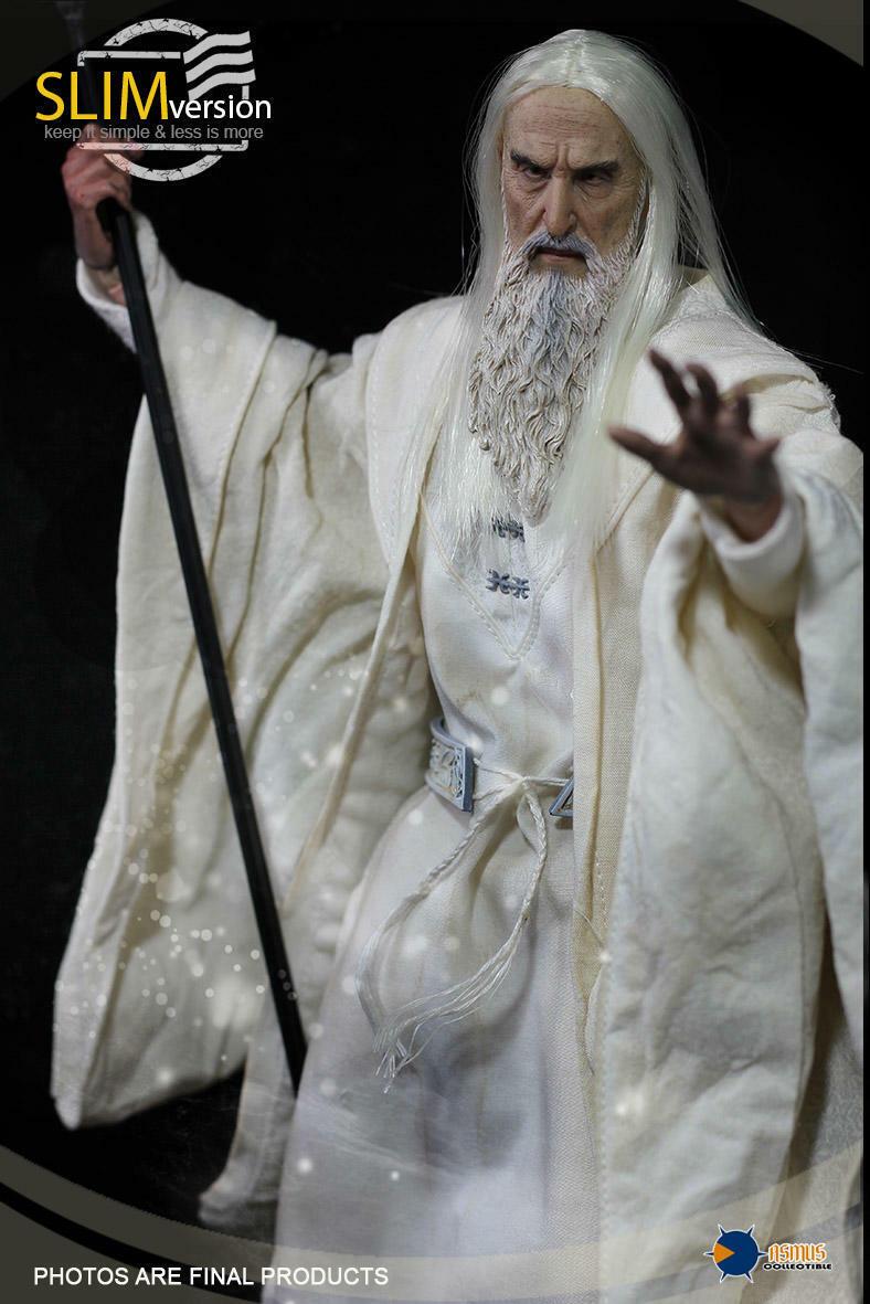 Asmus Juguetes hobbt 003 Saruman El Señor de los anillos la blancoo 1 6 Figura De Acción
