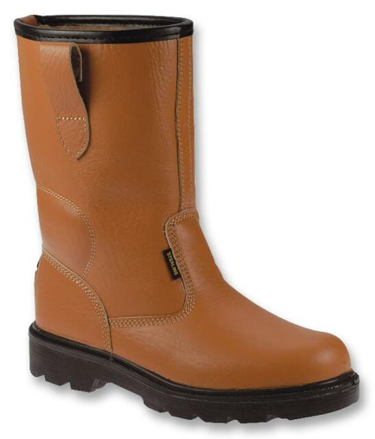 RIGGER BOOTS TAN SIZE 8 Personal Protection & Site Safety Boots