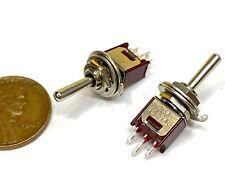 2x Sub Miniature Toggle Switch Spdt Onoffon 3 Way 3 Pins Latching Lock 5mm G25