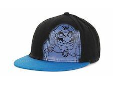 """Nintendo Black and Blue """"WARIO"""" Corner Flex Cap Hat L/XL $25"""
