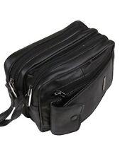 BLACK LEATHER MAN BAG COIN HOLDER CHANGE CASH BAG  DISPENSER TAXI DRIVER