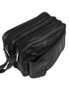 Image Is Loading Money Cash Bag Black Leather Coin Holder Change