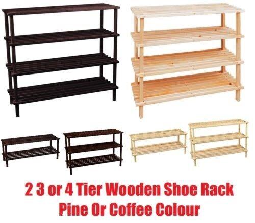 Chaussures en Bois Rack Stand Debout meuble de rangement couloir organisateur étagère Support