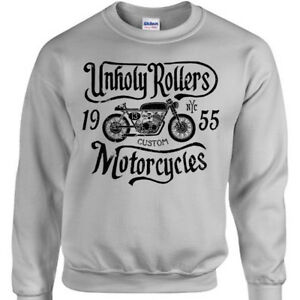 Unholy-Rollers-Sweatshirt-Mens-Womens-jumper-bike-bike-motorcycle-racing-custom