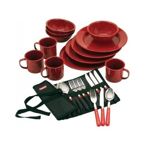 Outdoor Dining Sets Camping Eating Utensils Equipment Coleman Dinnerware Plates