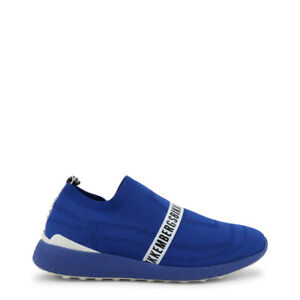 SCARPE-BIKKEMBERGS-UOMO-STRIK-ER-2106-BLUE-STRIKER-SLIP-ON-ORIGINALI-SNEAKERS